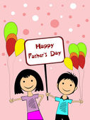 Illustration for happy father's day celebration — Stockvector