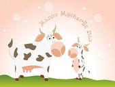 Illustration for happy mother's day — Stok Vektör
