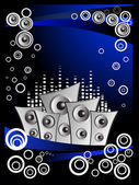 Abstract musical concept background — Stock Vector