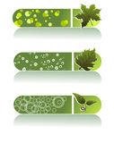 Vector set of three go green header — Stock Vector
