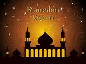 Vector illustration for Ramadan Kareem celebration. — Stock Vector
