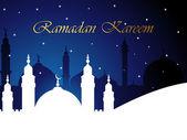Vector illustration for Ramadan Kareem on twinkle stars night background. — Stock Vector