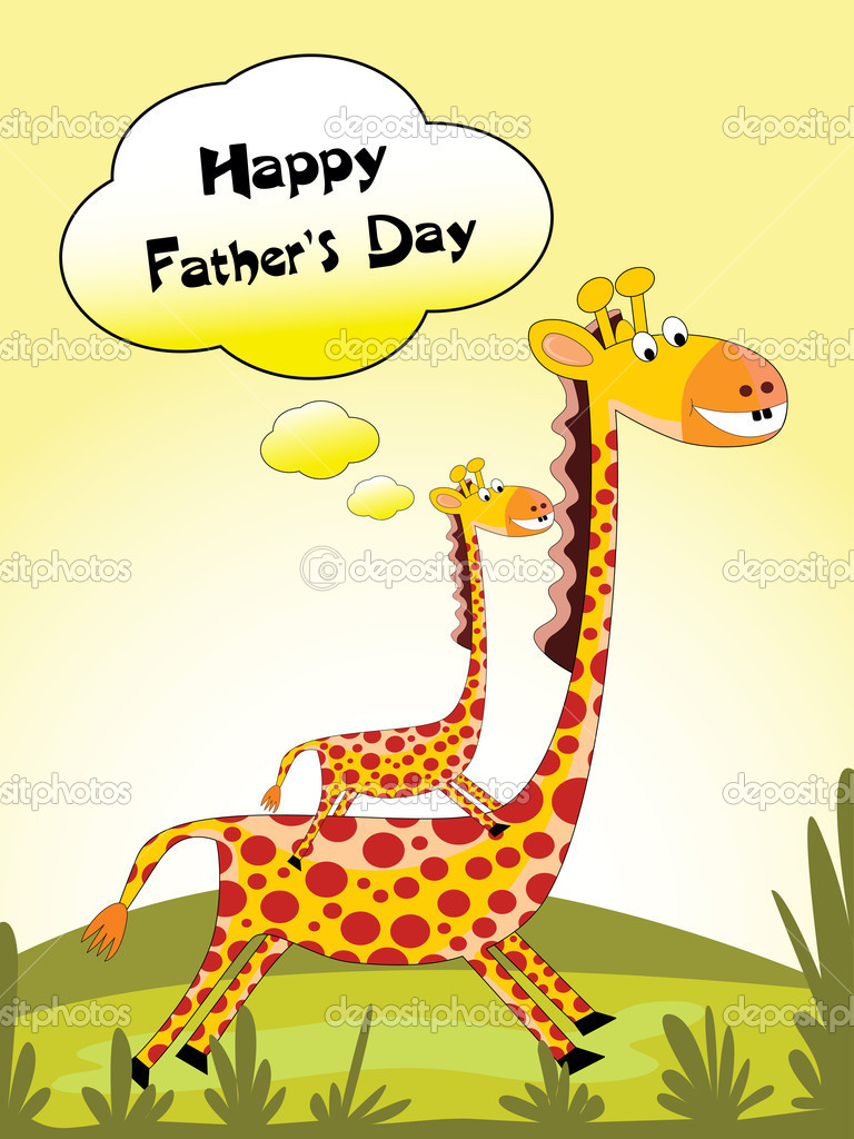 Illustration for happy fathers day celebration — Stock ...