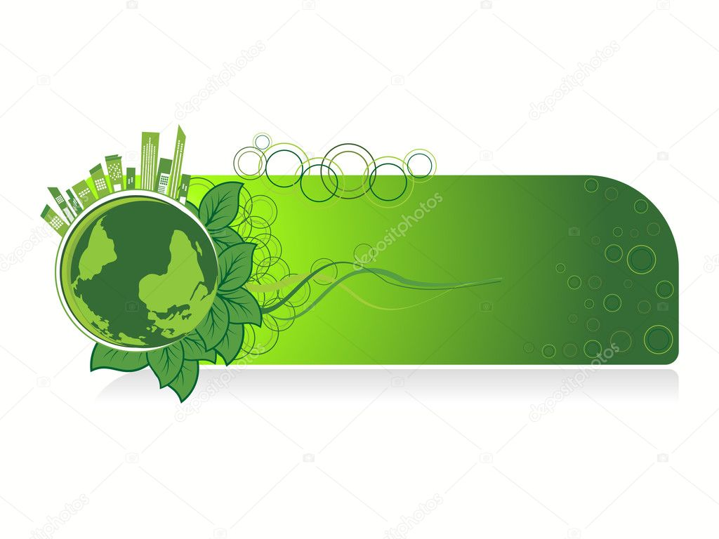 Background with isolated go green concept banner — Stock ...