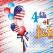Royalty-Free Stock Vector Image: Illustration for us independence day