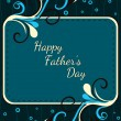 Vector background for happy father's day celebration — Stock Vector #5635119