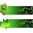 Vector set of two ecology header — Stock Vector