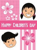 Funky concept background for children's day — Stockvektor