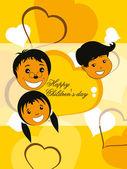 Funky concept background for children's day — Stok Vektör