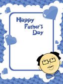 Vector background for happy father's day celebration — Stok Vektör