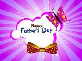 Vector background for happy father's day celebration — Stok Vektör