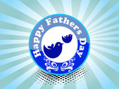 Vector background for happy father's day celebration — Stockvector