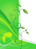 Обои для рабочего стола для экологии — Cтоковый вектор