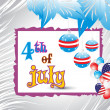 Illustration for 4 july — Vector de stock