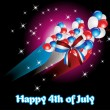 Illustration for 4 july - Image vectorielle