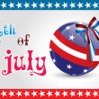 Illustration for happy 4th july celebration — Vector de stock  #5693157