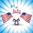 illustration for 4 july us independence day — Vector de stock #5693173