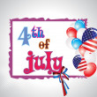 Illustration for 4 july us independence day — Wektor stockowy  #5693176