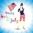 Illustration for 4 july us independence day - Stockvectorbeeld