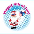 Illustration for happy 4th july celebration - Stock Vector