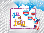 Illustration for 4 july — Stock Vector
