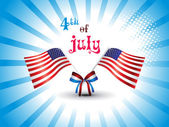 illustration for 4 july us independence day — Vector de stock
