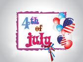 Illustration for 4 july us independence day — Stock Vector