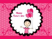 Tarjeta de felicitación para padre feliz — Vector de stock
