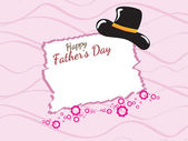 Greeting card for happy father's day — Vetor de Stock