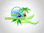 Illustration for world environment day — Stock Vector