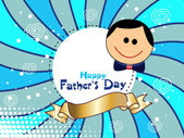Grußkarte für glückliche Vater — Stockvektor