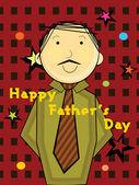 Illustration for father's day celebration — Vecteur