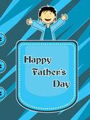 Ilustración para la celebración del día de padre — Vector de stock