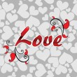 Vector de stock : Romantic concept background