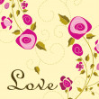 Beautiful illustration for love - Stock Vector