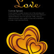 Beautiful illustration for love — Vector de stock #6530706