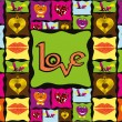 Beautiful illustration for love — Vector de stock #6530783