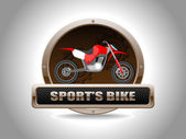 Racing bike — Vetorial Stock