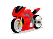 Vector racing bike — Stock Vector