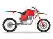 Vector racing bike — Stock Vector