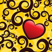 ρομαντική έννοια φόντο — Διανυσματικό Αρχείο