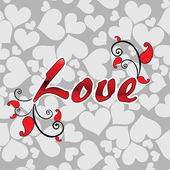 Fundo do conceito romântico — Vetorial Stock
