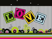 красивые иллюстрации для любви — Cтоковый вектор