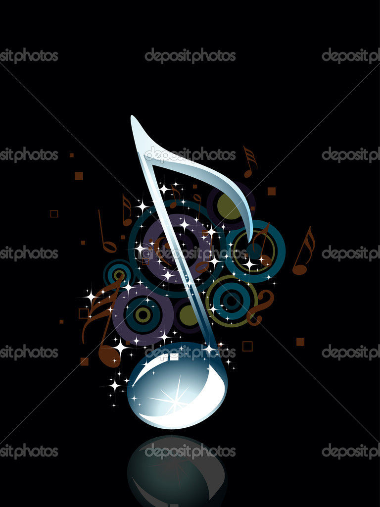 Abstract musical notes concept background — Stock Vector ...