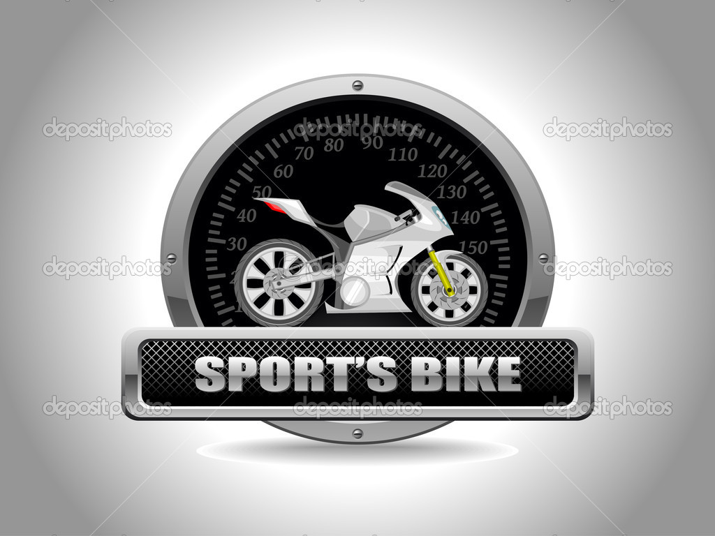 Vector sport bike in speedometer  Stock Vector #6530459