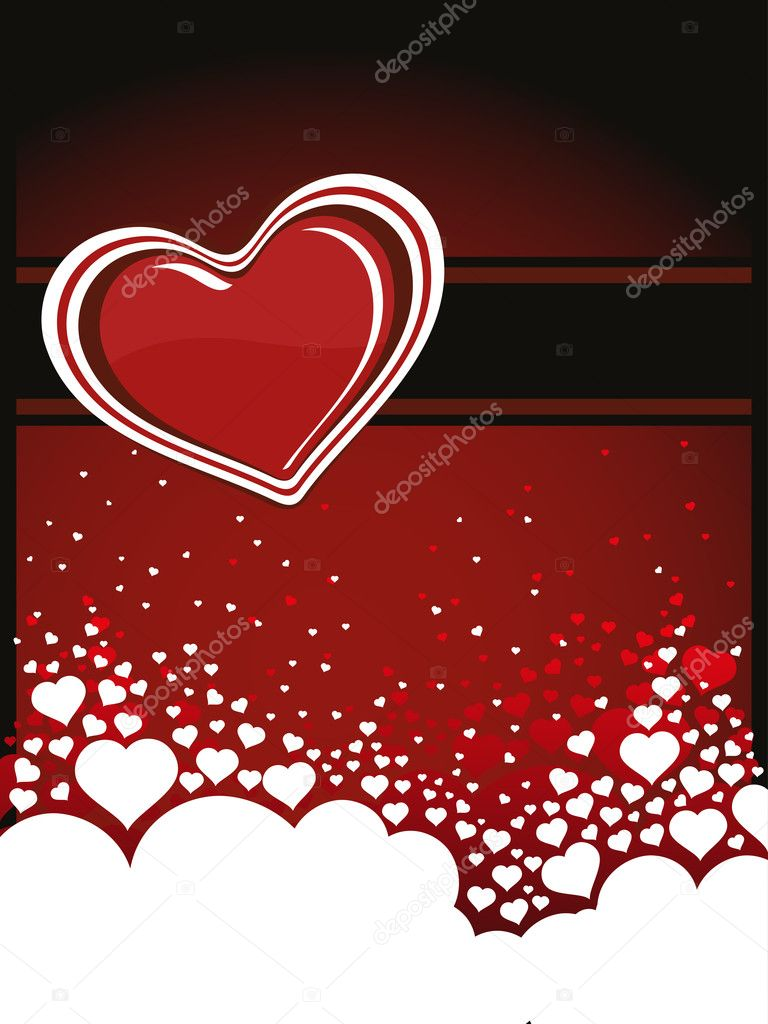 Abstract romantic love background, illustration — Imagen vectorial #6530799