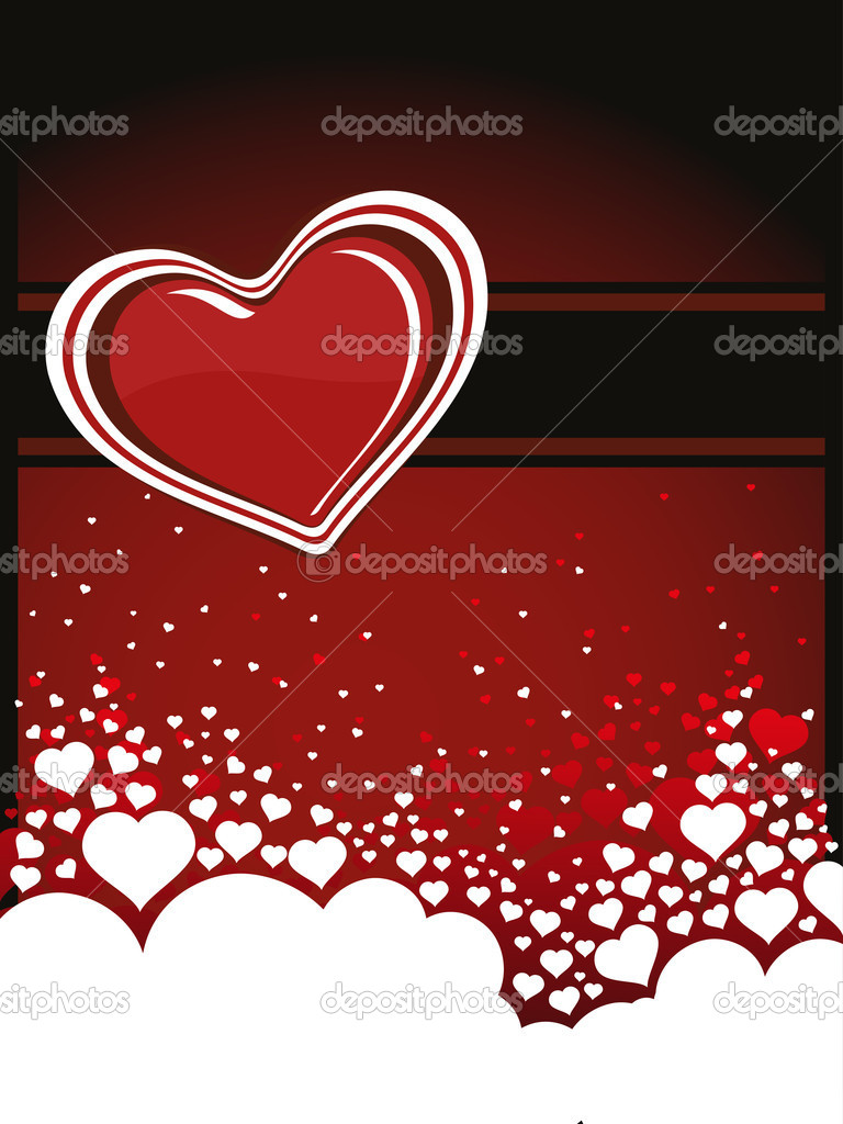 Abstract romantic love background, illustration — Stockvectorbeeld #6530799