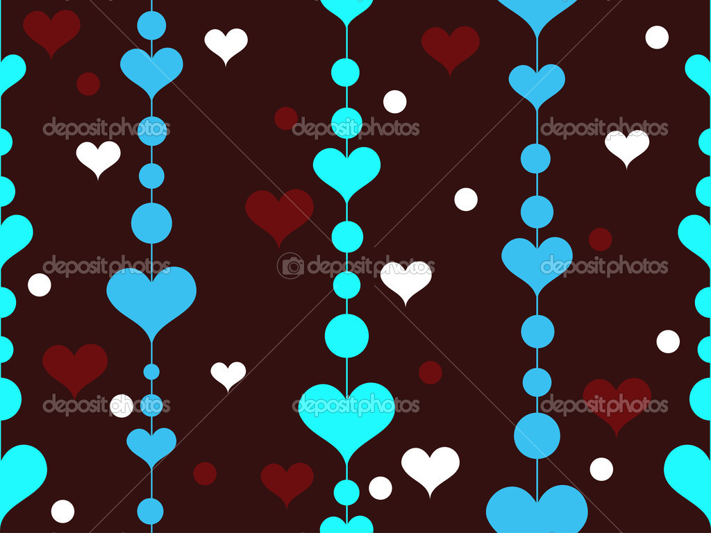 Romantic pattern wallpaper — Stock Vector #6530924