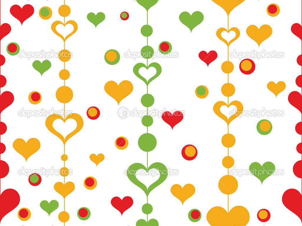Colorful heart pattern wallpaper — Stock Vector #6530932