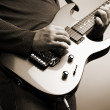 Rock guitarist — Stock Photo